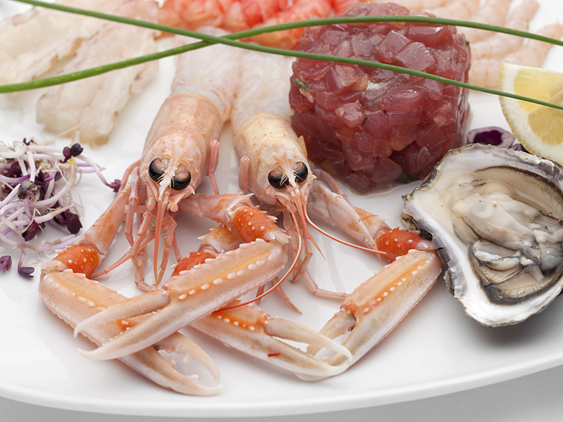 crudités: mixed shellfish