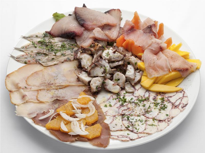 Mixed seafood carpaccio